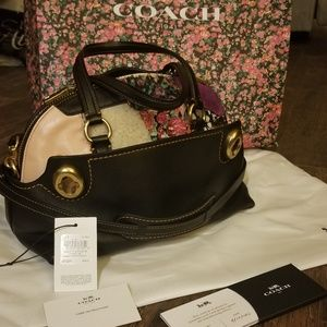 """Coach 1941 """"Outlaw 36"""" Leather Patchwork Satchel"""